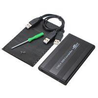 pc için harici disk sürücüsü toptan satış-Toptan-Yüksek Kalite Siyah USB 2.0 2.5 Inç 44 pin IDE HD Sabit Disk Sürücüsü HDD Harici Kılıf Muhafaza Kutusu Için Mac OS Dizüstü Dizüstü PC