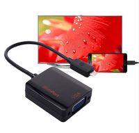 Wholesale Vga Cable Tv - Slimport MyDP to VGA Converter Adapter Kabel OM 1080 P VGA TV Monitor projector voor LG optimus g pro voor LG slimport naar vga