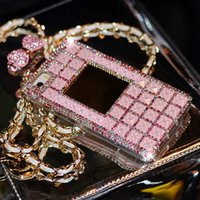Wholesale Handmade Galaxy Phone Cases - 01 Rhinestone Perfume Bottle Cute Bowknot Handmade Phone Protect Back Cover Cellphone Case For Samsung Galaxy iPhone 5 5s 6 6 Plus 7 7 Plus