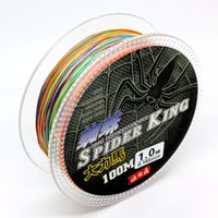 Wholesale Dyneema Braided Strand - PE Braided Dyneema fishing lines braids 110y 100m 8 Strands for Freshwater and Saltwater one color per 1M Strong Multifilament