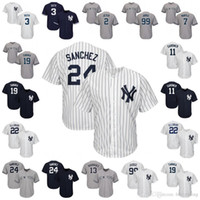 Wholesale Mantle Man - New York Yankees Gary Sanchez 2 Jeter Aaron Judge 13 Rodriguez Mickey Mantle Babe Ruth 11 Gardner Jacoby Ellsbury Brian McCann Tanaka Jersey