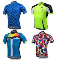 Wholesale Comfortable Clothing - 20 Models Cheep Cycling Jerseys Short Sleeves Summer Cycling Shirts Bicycle Clothes Bike Wear Comfortable Anti Pilling cycling Jerseys