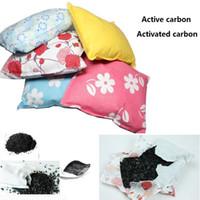 bambuskohletaschen großhandel-Bambuskohle Beutel nach Hause Auto Lufterfrischer Luftfilter Antimikrobielles Deodorant Geruch Absorber Beutel 500G Bambus Aktivkohle