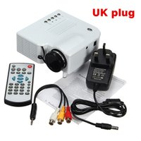 Wholesale Home Theater Led Lighting - Wholesale-LCD HD 1080P LED Light Mini Portable Home Cinema Theater Projector Entertainment Video Projector White US UK AU PLUG