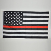Wholesale National Flag Blue Line American Flag Thin Red Line USA Black White And Blue Thin Banner with Brass Grommets The Decorations for Party