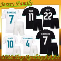 Wholesale Autumn Winter Sets - 2018 New Real Madrid Home away Kit Jersey 17 18 RONALDO Men Jersey Kits 17 18 KROOS BENZEMA BALE RAMOS MARCELO JAMES Set Jersey shirts