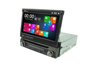 Wholesale Car Dvd Digital Panel - 7 Inch 1 Din Car DVD AutoRadio GPS Player MTK3360 With Motorized Retractable Monitor Removable Panel Anti-theft Universal