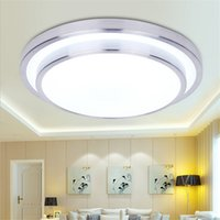 Wholesale double ceiling led - 12W 18W 24W 36W Double Aluminum line Led Ceiling Light Round Modern Led Ceiling Lamps Living Room Bedroom Lamp Dia 290 350 400 520mm 85-265V