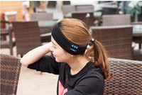 Wholesale Music Gift Wrap Wholesale - Bluetooth Music Headband Stereo Wireless Headset Mens Womens Sports Running Fitness Yoga Stretch Head Wrap Caps Perfect Gifts