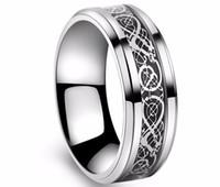 ingrosso gioielli giorni titanio-San Valentino Vintage Vintage acciaio al tungsteno bianco Anello d'oro per gli uomini signore Titanium anelli di nozze Band nuovi gioielli anello punk
