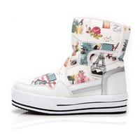 Wholesale Girls Boots Flowers - Fashion boots Shoes Mixed Natural Wool Winter Women Boots Girl Flower Waterproof Thermal Snow Boots Colourful Boots. XDX-009