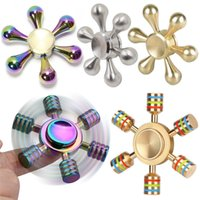 Wholesale Metal Fidget Spinner Six Arm King Kong Gyro Detachable Spinner Toy EDC Gyro Gag Focus ADHD Autism Can Spin Minsn