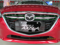 Chrome Front Grille Grill Cover Trim Molding para Nova MAZDA 3 AXELA 2014 2pcs / set Car Styling Exterior Chrome Acessórios
