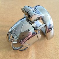 stainless steel cockcage Canada - New lock Male Bondage Chastity belt Device Stainless Steel Cock Cage BDSM Sex Toys short design Cockcage S040
