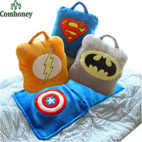 Wholesale Child Plush Car Pillow - The Avengers Baby Pillow Feeding Cushion 150cm Batman Superman Blanket Children Room Bedding Decoration Car Seat Kids Plush Toys