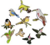 Lovely Bird Collar Sew Patch Applique Badge Vestido de busto bordado Handmade Craft Ornament Tecido Etiqueta ER739