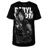 The Walking Dead 4 Daryl Dixon Cosplay Uomini Estate Short Sleeve T-Shirt Cotone Casual T-Tops Plus Size