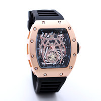Wholesale Skeleton Watch Brown - 2017 New Luxury brand Skull sport Watches men Casual Fashion Skeleton quartz watch free shippingMontre Homme SPROT WATCH2