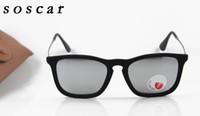 Wholesale Velvet Frame - Women Polarized Sunglasses Brand Designer Sunglasses Velvet Frame Resin Lenses Fashion Cool Sunglass UV400 High Quality 4187 Leather Box