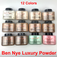 luxe oil Canada - 12 colors Ben Nye Luxury Powder 42g New Natural pouder de luxe Banana Face Loose Powder Waterproof Nutritious Brighten Long-lasting Hot Sell