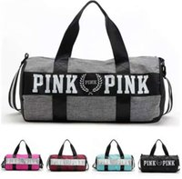 Wholesale Travel Duffle Bags VS Pink Handbags Women Striped Waterproof Beach Bag Shoulder Bag Colors