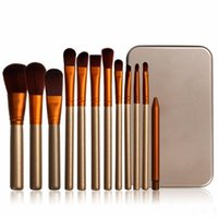 Wholesale professional blusher powder makeup for sale - Group buy Makeup Brushes Golden Brushes Kit Set Powder Blusher Eyeshadow Professional Makeup Cosmetic Brush Face Brush Set with Retail Box set