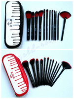 Wholesale Makeup Brush Set Red - HOT Kylie Makeup Brush Foundation Powder Blush 12 pieces Makeup Tools Black  red DHL Free shipping+GIFT