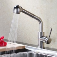 Wholesale Fitting Shower Mixer Taps - Bathroom Faucet Brass Sink Faucets Kitchen Brushed Surface Pull Out Kitchen Mixer Tap Shower Faucets Hot Cold Water Taps