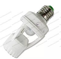 Wholesale Sensor Globe - AC 110-220V 360 Degrees PIR Induction Motion Sensor IR infrared Human E27 Plug Socket Switch Base Led Bulb light Lamp Holder MYY