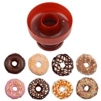 Wholesale Doughnut Mold - Wholesale- 1 pc Round Shape Donuts Mold Cake Desserts Bread Plunger Cutter Maker Mould DIY Cake Donut Cutter Maker Doughnut Tool