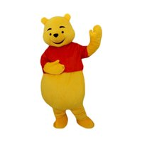 Wholesale Costumes Winnie Pooh - winnie pooh bear Mascot Costumes Cartoon Character Adult Sz 100% Real Picture 009