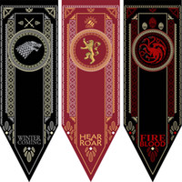 Wholesale Game Housing - House Stark Banner Game of Thrones Wolf Tournament Outdoor Banner Flag 48*150 Custom America USA Team Soccer College Baseball Flag