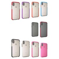 Wholesale Iphone Case Retail Bag - For iPhone 8 Clear Mesh Case Soft TPU Cover Colorful Material with Retail Bag 50pcs up