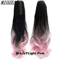 "Wholesale Pony Wave - Hair Long Wavy Ombre 20"" Clip On Hair Claw Pony Tail Synthetic Hairpiece Heat Resistant Ponytail"