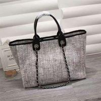 Wholesale Weekend Bags Women - HIGH QUALITY Huge Expandable chain Weekend shopping Tote Bag Paris women luxury handbag Getaway great Canvas size 38cm