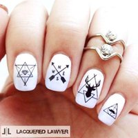 Wholesale Mustache Nail Decals - 1 Sheet Ultrathin Adhesive 3D Nail Stickers Beard Mustache Water Decals Transfer Sticker 10.3*8cm Nail Art Decorations