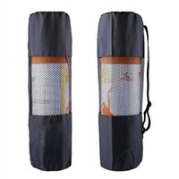 Wholesale Outdoor Yoga Mats - The new type of outdoor sports waterproof portable multifunctional breathable mesh yoga mat package Yoga Bag (black)