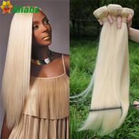 Wholesale Weft Human Hair 613 Straight - 613 Blonde Virgin Hair straight 3pcs brazilian Virgin Hair Straight human hair extension 7A cheap Brazilian Weave #613