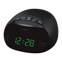 Wholesale Dual Band AM FM Radio Receiver Alarm Time Clock LCD Display Multifunction Digital Radio Receiver With Snooze Function Portable
