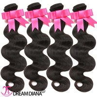 Wholesale Body Wave Hair Weaves Brazilian Virgin Hair Bundles Remy Human Hair Weave Natural Color Natural B Can Be Dyed Can Be Permed