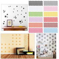 Fashion 12 Colors Stars Stickers muraux Kids Baby Room, DIY Wall Art Décoration intérieure Autocollant # 87379