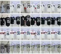 Wholesale Paul Konerko Jersey Xxl - 2017 Chicago White Sox Baseball Jersey 79 Jose Abreu 21 Todd Frazier 15 Brett Lawrie 35 Frank Thomas 14 Paul Konerko Jordan Cool Base Jersey