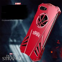 Wholesale Doctor Iphone Cover - Phone Case For Apple iPhone 6 6s 7 7Plus R-Just Doctor Strange Heavy Dust Metal Armor Anodized Aluminum Metal Armor Back Cover