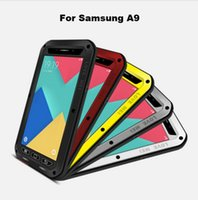 étuis de téléphone en métal galaxy s4 achat en gros de-Coque pour téléphone Coque pour téléphone LOVE MEI blindé Couverture hybride étanche pour SAMSUNG Galaxy S3 S4 S5 S6 S7 Edge
