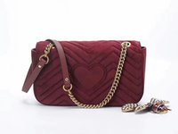 Wholesale New Hand Cream - brand new genuine leather women hand Bags medium size high quality velvet shoulder bags for lady 761