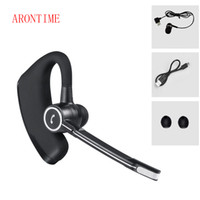 Wholesale Headphone Control Sport - V8S Voice Control Business Bluetooth Headset Earphone Handsfree Wireless Headphones Noise Cancelling Sports Music Bluetooth Earbud