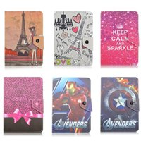 Wholesale Girls Tablet Case - Universal Tablet PC Case Cartoon Animals Spider-man Tower girls Bowknot Pattern Colorful PU Leather Stand Holder Case For Tablet PC 7 inch