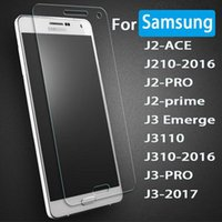 Wholesale Galaxy S4 Tempered Glass Screen - Tempered Glass For Samsung Galaxy J3 J5 J7 2017 C7 C5 Pro S7 S6 S5 S4 Mini Screen Protector 9H Hardness Anti Scratch