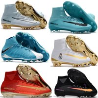 Wholesale Cheapest Slip Shoes - Top Quality Mercurial Superfly FG CR7 Magista Obra Soccer Shoes Cristiano Ronaldo Soccer Cleats Neymar Footbal Shoes Cheapest Soccer Boots