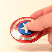 Wholesale Iron Man 12 - Creative Captain America Shield Hand Spinner Iron Man Fidget Alloy Puzzle Toys EDC Autism ADHD Finger Gyro Toy Adult Gifts